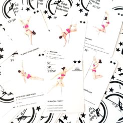 POLE COMBO CARDS - INTERMEDIATE LEVEL, fidury pole dance, choreografia pole dance